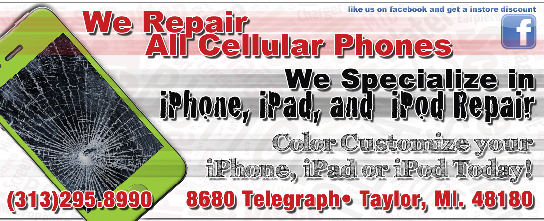 313-295-8990 Iphone Repair Taylor Michigan 8680 Telegraph